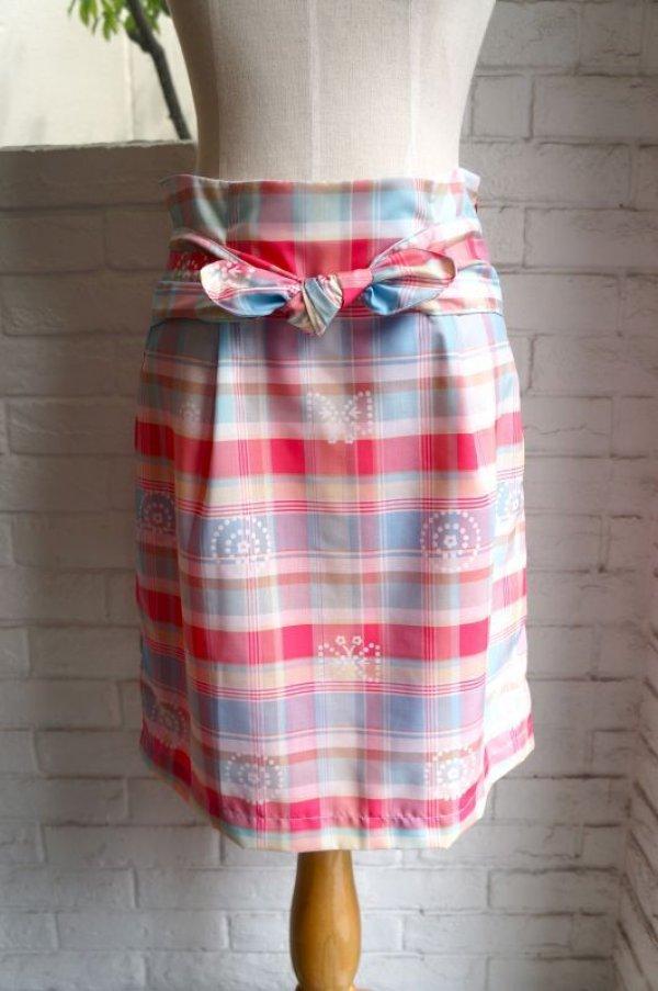 画像1: maiito check × check タイトスカート pink (1)