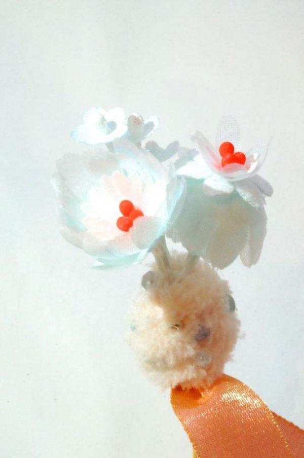 画像1: SOWA 「wonder flower pins」 SKY (1)