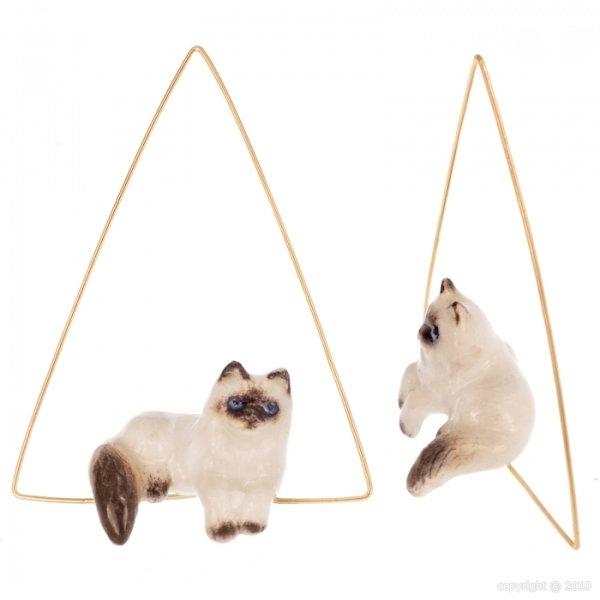 画像1: NACH Lying Siamese Cat ピアス (1)