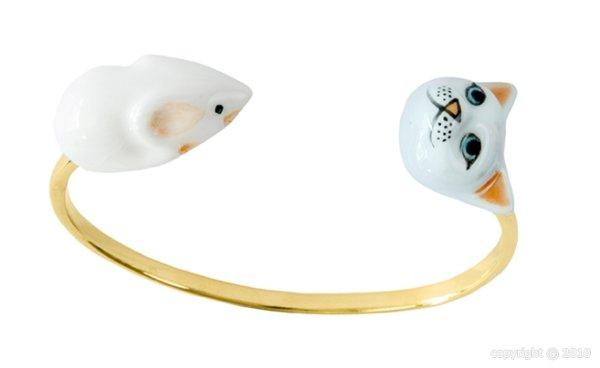 画像1: NACH Cat and mouse face to face bracelet (1)
