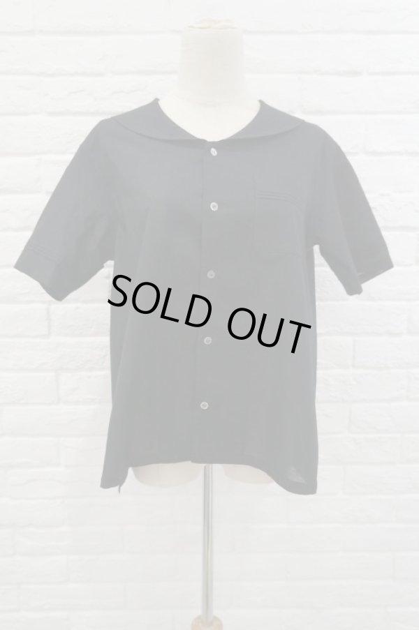 画像1: sowa  (ソーワ) sailor blouse black vintage button (1)
