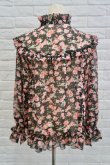 画像3: SOWA  (ソーワ) Rose chiffon blouse black  (3)