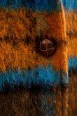 画像6: STOF (ストフ) バグチェックシャギーコート MUSTARD (6)