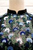画像4: チュール刺繍ワンピース FLOWER EMBROIDERY DRESS blue (4)