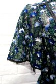 画像5: チュール刺繍ワンピース FLOWER EMBROIDERY DRESS blue (5)