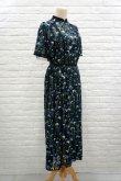 画像2: チュール刺繍ワンピース FLOWER EMBROIDERY DRESS blue (2)