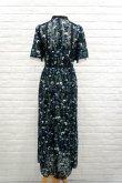 画像3: チュール刺繍ワンピース FLOWER EMBROIDERY DRESS blue (3)
