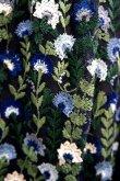 画像8: チュール刺繍ワンピース FLOWER EMBROIDERY DRESS blue (8)