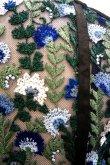 画像7: チュール刺繍ワンピース FLOWER EMBROIDERY DRESS blue (7)